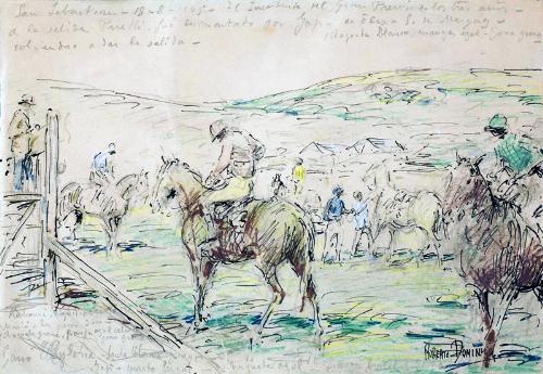 Carrera de caballos en San Sebastian