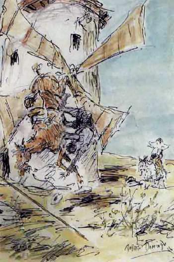 Escena del Quijote