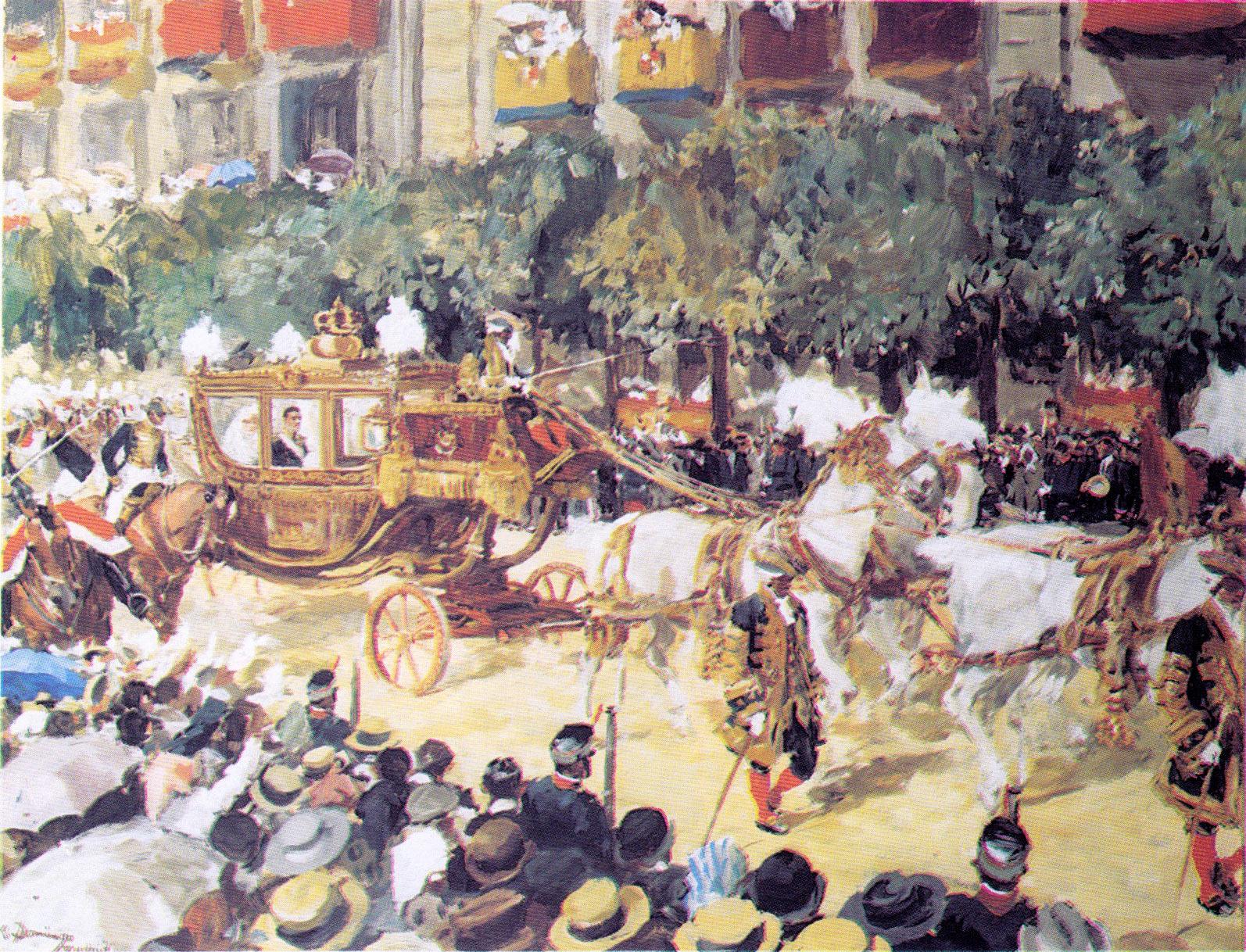 Cortejo Real de la Boda del Rey Alfonso XIII