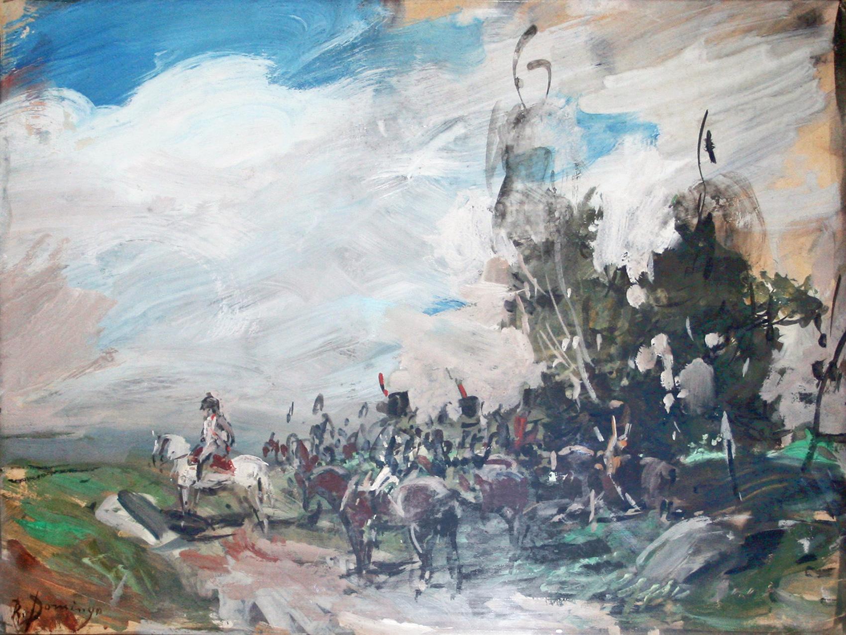 Napoleón y sus tropas.