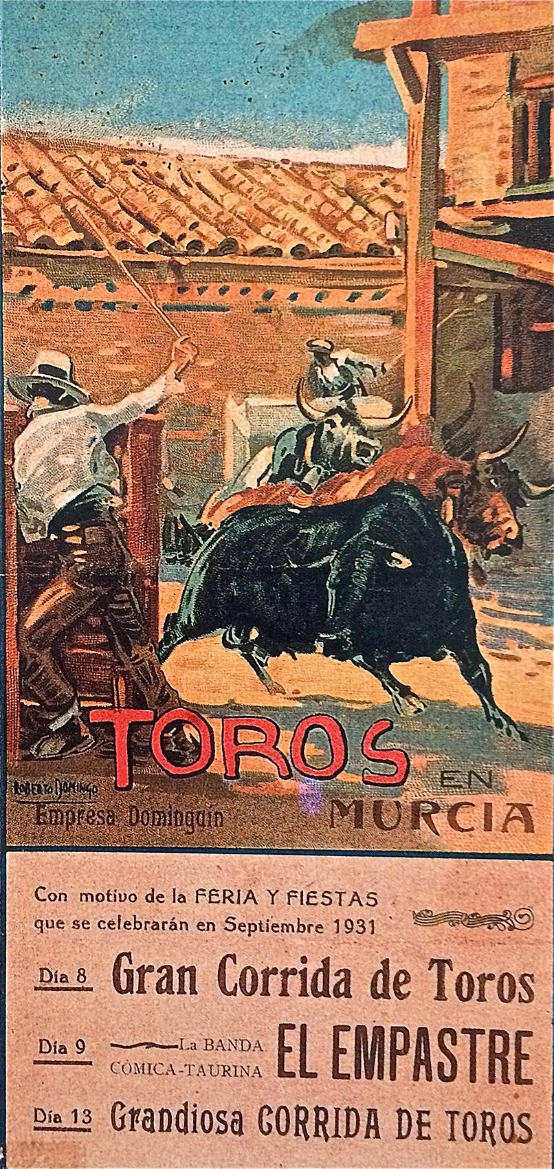Poster of bulls, Murcia
