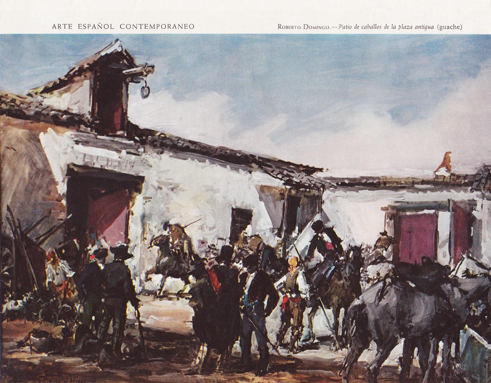Patio de caballos de la plaza antigua