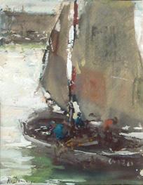 """""""Barca de pesca en Bretana"""""""