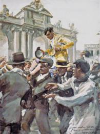 """""""Su eminencia el matador"""" 1918."""