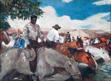 """""""Composición con figuras y caballos"""""""