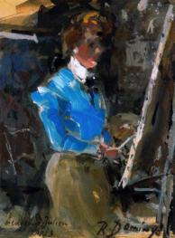 """""""Una pintora. Academia Julien. París"""""""