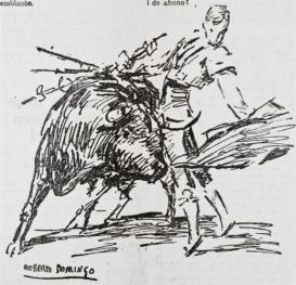 """""""La muerte de Joselito"""" 2, detail."""