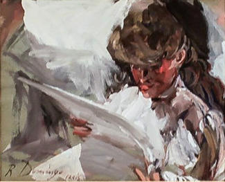 """Mujer leyendo"""