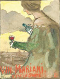"""""""Publicity poster for VIN MARIANI"""""""