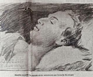 """""""La muerte de Joselito"""" detail."""