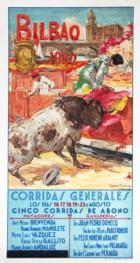 """""""Poster of bulls, Bilbao"""""""