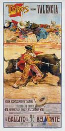 """Poster of bulls, Valencia"""