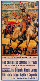 """Poster of bulls, Murcia"""