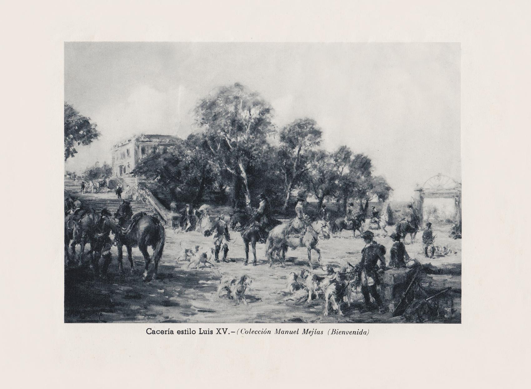 Cacería estilo Luis XV